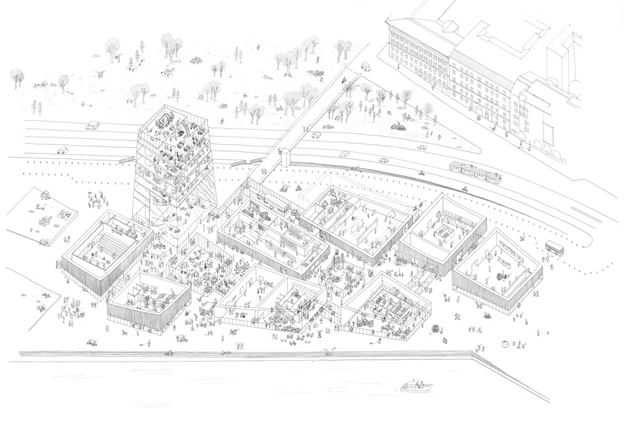 Guggenheim Museum Helsinki. I Nagroda w konkursie: © Moreau Kusunoki Architectes