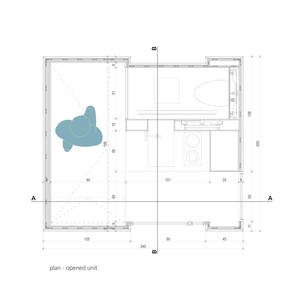 Mały dom na szynach. Projekt: Tomasz Zabłotny, Paweł Maszota