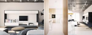 Aranżacja wnętrza mieszkania w Lublinie projektu 081 Architekci