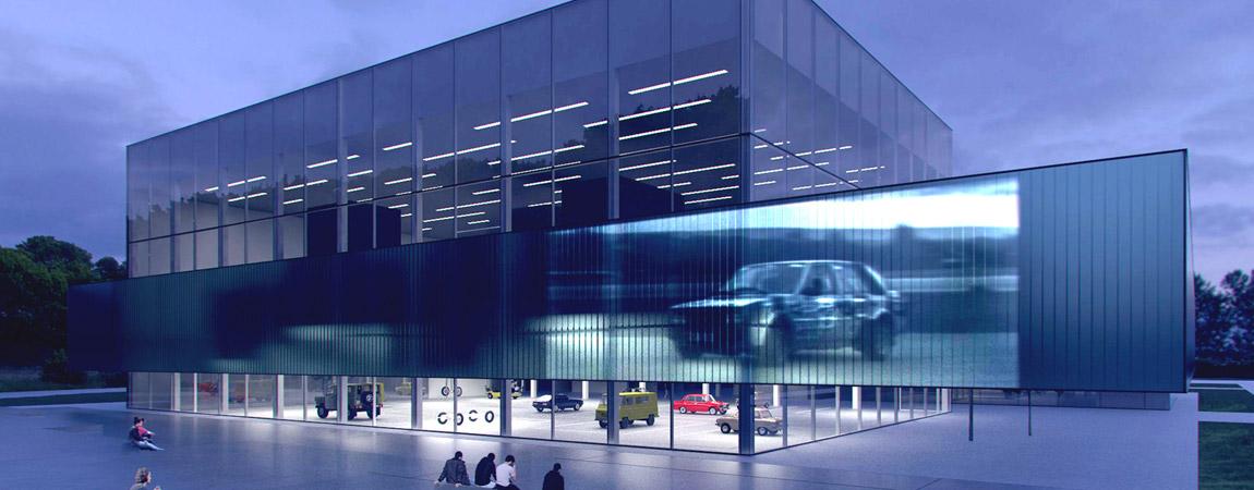 Centrum Polskiej Motoryzacji na terenach dawnego toru FSO  – Projekt dyplomowy Dawida Chojnackiego