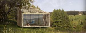 Naturalny ekologiczny dom z drewna, słomy i gliny w Kotlinie Kłodzkiej