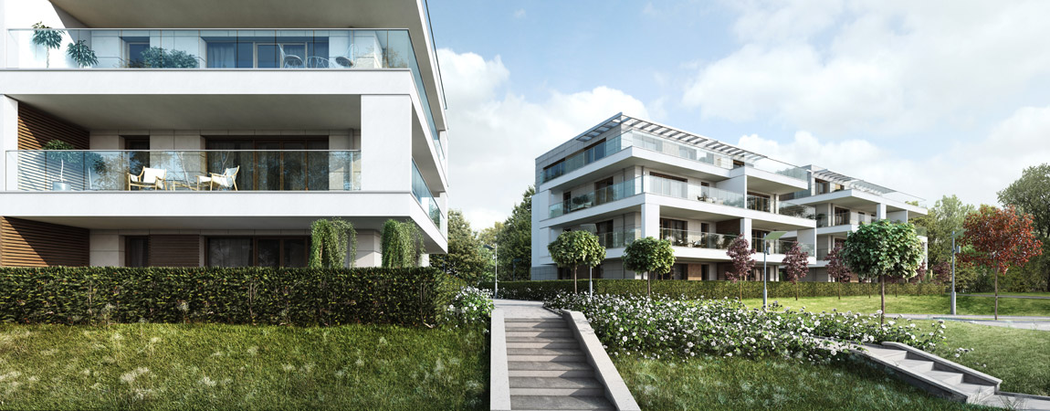 Kompleks Park Avenue Apartments w Krakowie. Architektura: GPP Grupa Projektowa