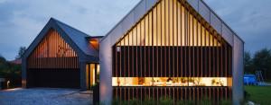 Dom dwie stodoły w Tychach projektu RS+ Architekci Robert Skitek