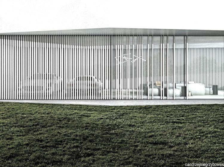 Dom Biały. Projekt: Andrzej Niegrzybowski