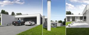 Dom z dachem płaskim pod Koszalinem projektu CONDE