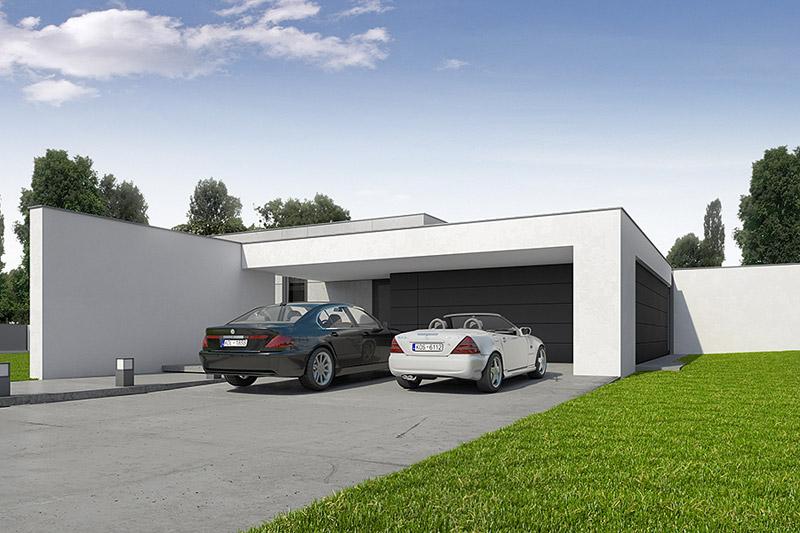 Dom z płaskim dachem pod Koszalinem. Projekt: CONDE | Konrad Idaszewski