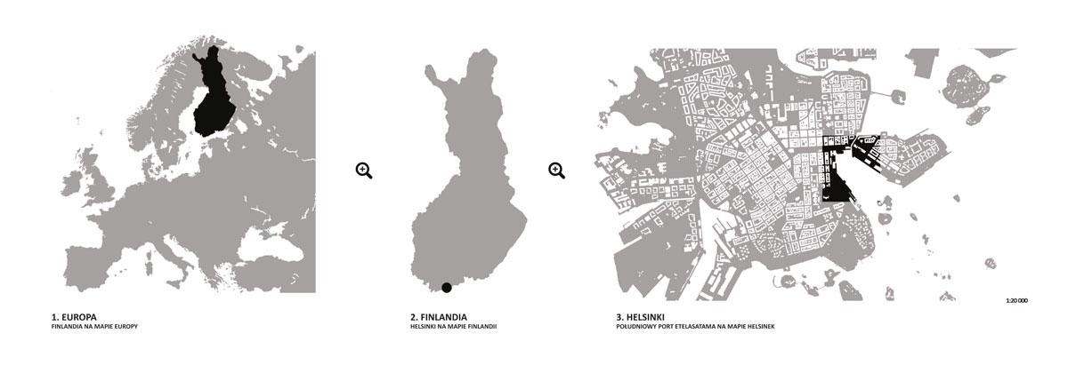 Dyplomy architektury: Rewitalizacja portu Eteläsatama w Helsinkach. Autorzy: Magdalena Potok, Mikołaj Wika