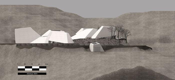 Dyplomy Architektury: Winiarnia w Maladze. Projekt: Wojciech Kozłowski, Wydział Architektury, Politechnika Poznańska