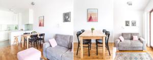 Kompaktowe mieszkanie dla młodej pary w Krakowie projektu MEEKO Architekci