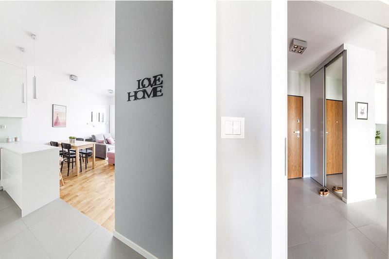 Kompaktowe mieszkanie w Krakowie. Projekt wnętrz: MEEKO Architekci