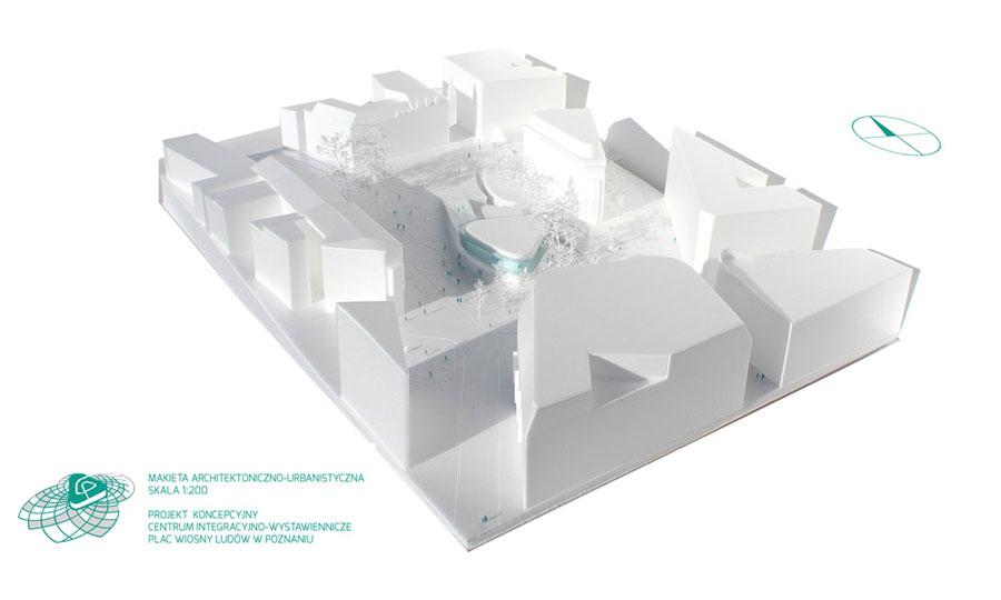 Dyplomy Architektury: Centrum Integracyjno-wystawiennicze miast partnerskich Poznania. Projekt: Rafał Stabryła
