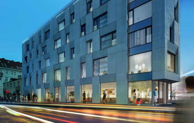Budynek mieszkalno-usługowy w Poznaniu. Projekt: Easst.com
