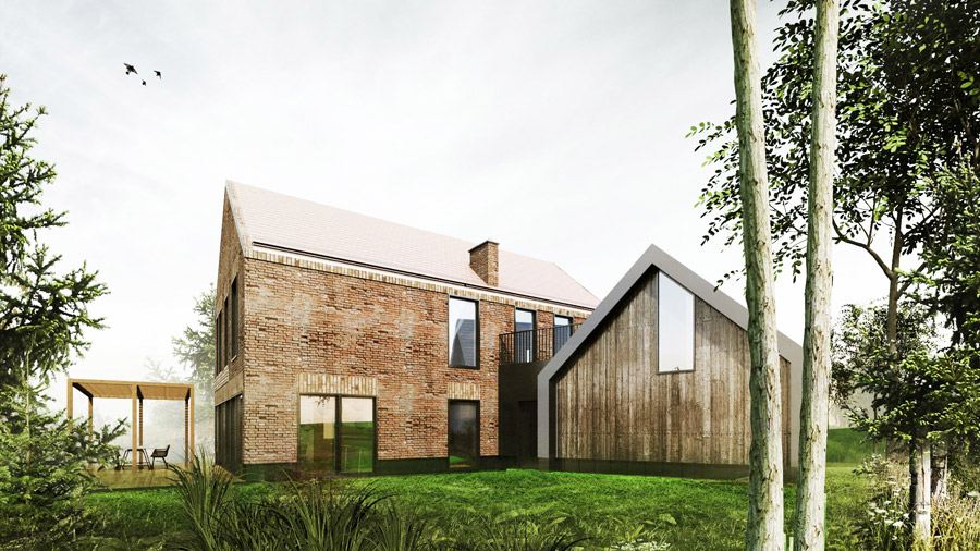 Dom w Swoszowicach pod Krakowem. Projekt: Grycaj Design