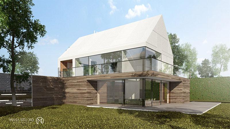 Dom jednorodzinny nad morzem. Projekt: MAKA Studio
