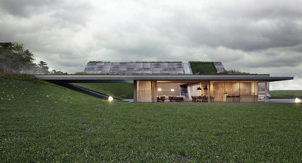 Green Line – Dom z widokiem na jezioro. Projekt: Mobius Architekci | Przemek Olczyk