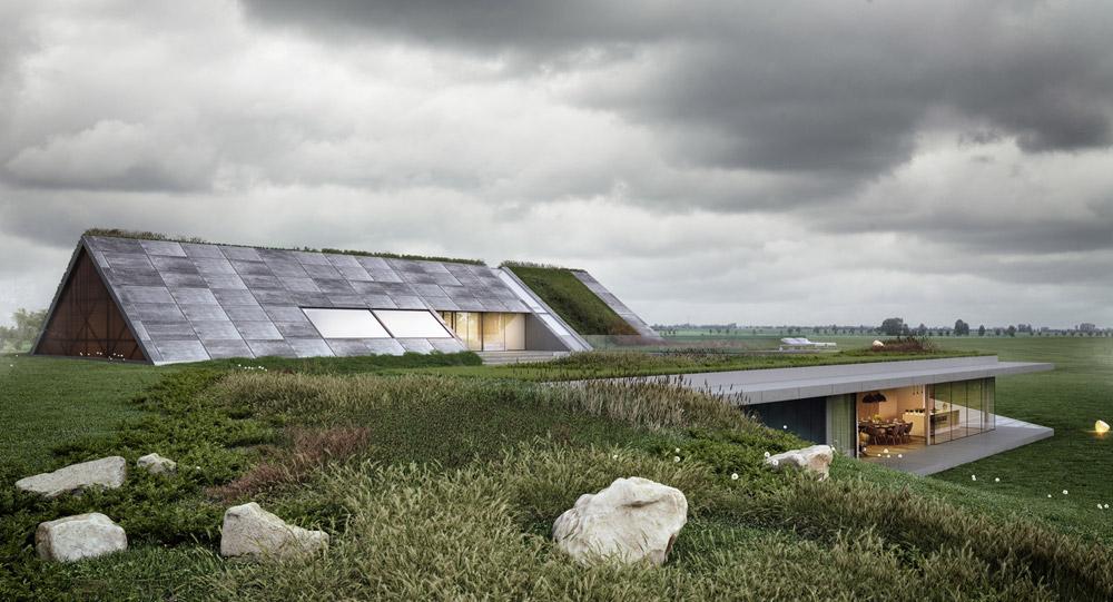 Green Line - Dom z widokiem na jezioro. Projekt: Mobius Architekci