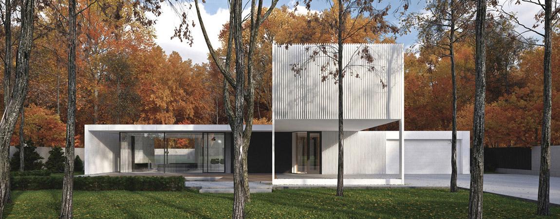 Biały Pawilon w Opypach pod Warszawą – Dom jednorodzinny Pracowni Paweł Lis Architekci