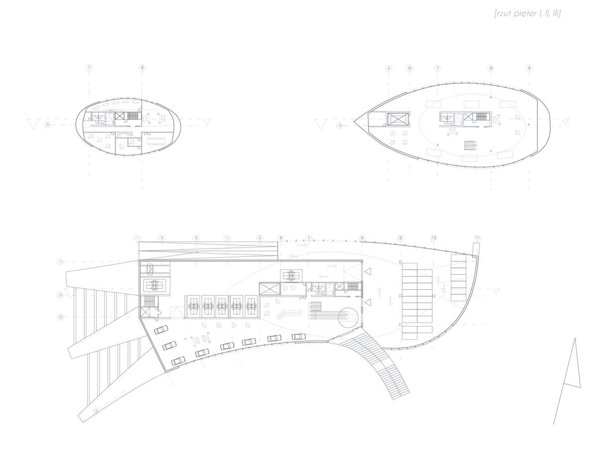 Salon samochodowy marki FSO we Wrocławiu. Projekt: Sebastian Macioszek