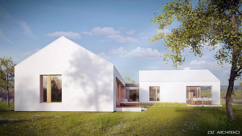 Dom Biały. Projekt: Z3Z Architekci