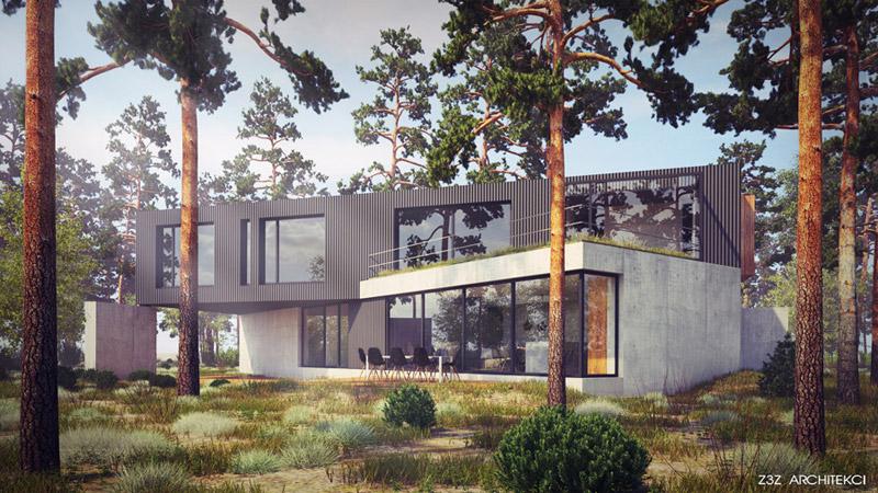 Dom w Czarnowie. Projekt: Z3Z Architekci