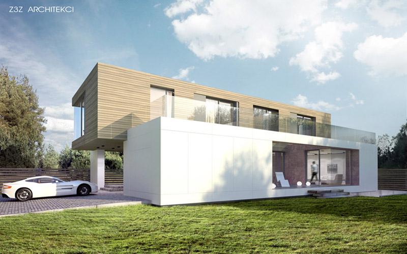 Dom w Józefosławiu. Projekt: Z3Z Architekci