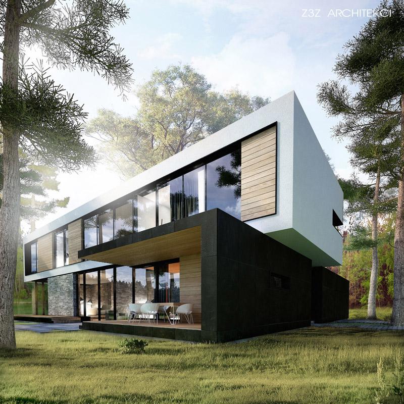 Dom w Sękocinie. Projekt: Z3Z Architekci