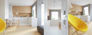 Projekt aranżacji wnętrz mieszkania w Lublinie pracowni 081 Architekci