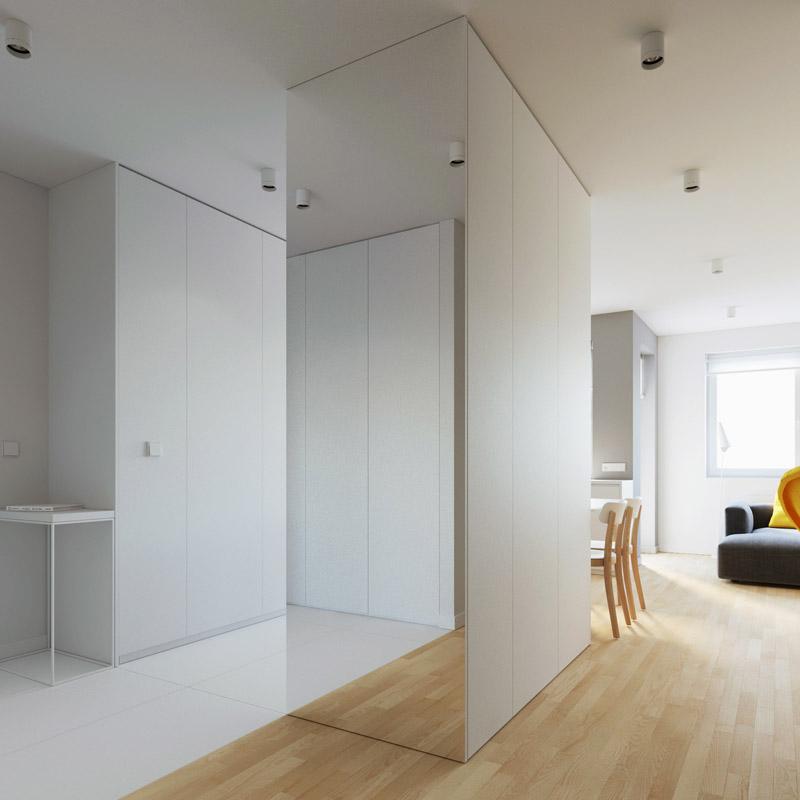 Projekt wnętrz mieszkania w Lublinie. Pracownia: 081 Architekci