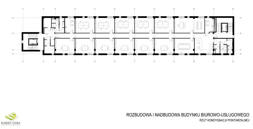 Biurowiec przy ulicy Wilczak w Poznaniu. Projekt: Easst.com