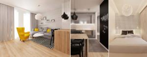 Wnętrze mieszkania w Dąbrowie Górniczej projektu Grzegorza Grzywacza oraz Magdaleny Paszkowskiej
