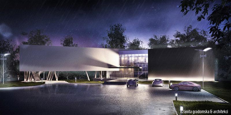 Budynek biurowy w Łodzi. Projekt: Anita Gradomska & Architekci
