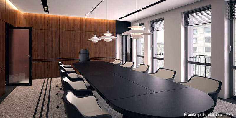 Wnętrze gabinetu ministerialnego w Warszawie. Projekt: Anita Gradomska & Architekci