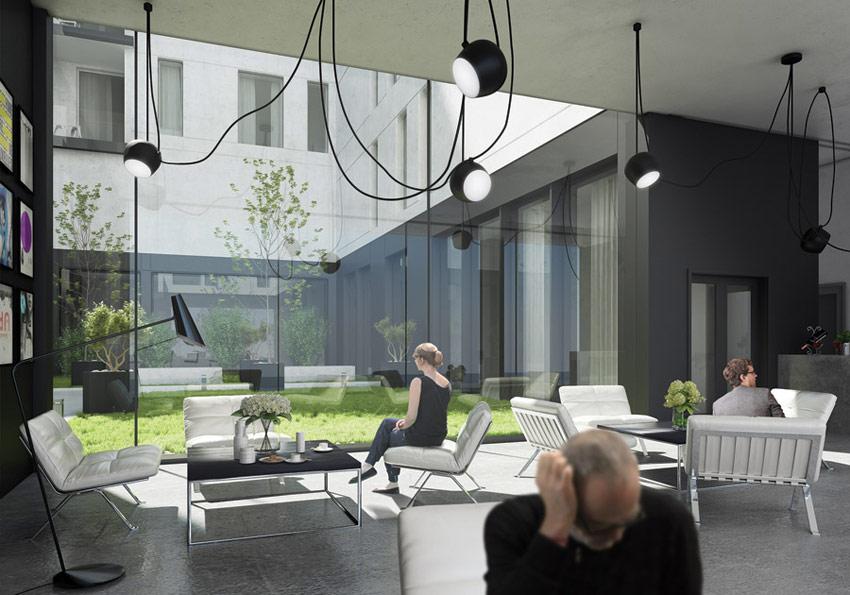 Dyplomy Architektury: Budynek mieszkalny z galerią sztuki w Warszawie. Projekt: Julia Popiołek