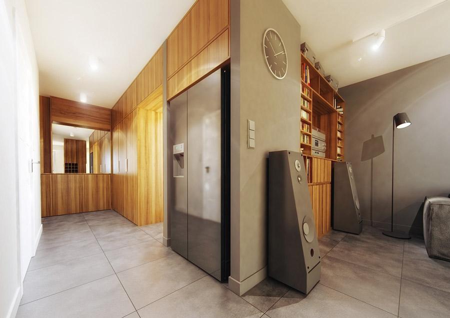 Wnętrza mieszkania w bloku. Projekt: May Art Studio