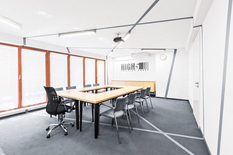Centrum Szkoleniowe HIGH5 w Warszawie. Projekt: mode:lina architekci