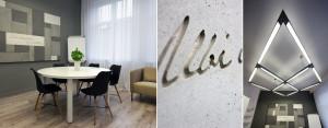 Eleganckie wnętrza biura mediacji o powierzchni 20m2 – Musk Collective Design