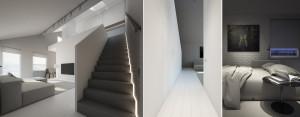 Projekt wnętrz kawalerki studia Oporski Architektura