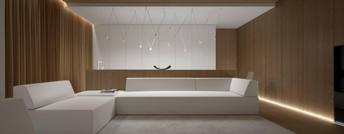 Wnętrza mieszkania projektu Oporski Architektura
