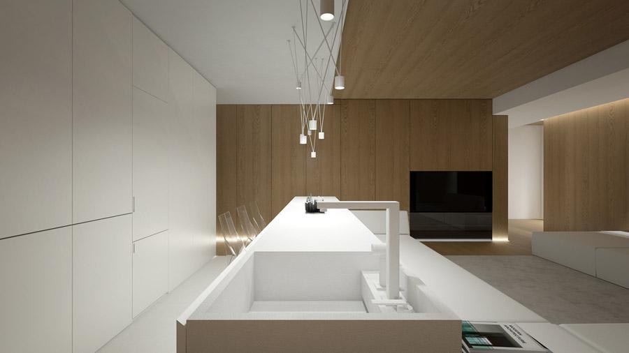 Projekt wnętrz mieszkania. Pracownia: Oporski Architektura