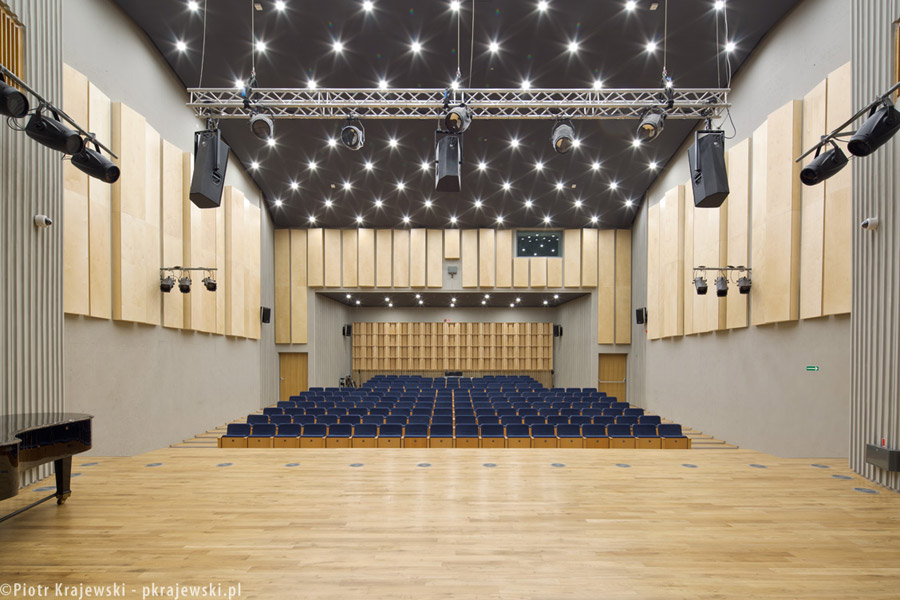 Szkoła Muzyczna we Wrocławiu. Architektura: Maćków Pracownia Projektowa. Zdjęcia: Piotr Krajewski