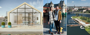 Dom na wodzie. Bliskość natury, nowoczesne technologie, otwartość na ludzi – pierwszy taki dom w Szczecinie.