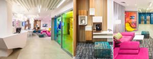 Wnętrza hotelu Ibis Styles we Lwowie projektu studia EC-5 Architekci