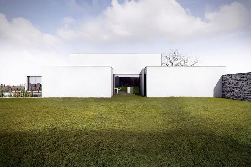 Dom za murem. Projekt: Kluj Architekci