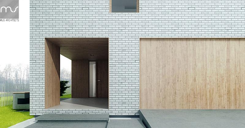Dom w Żorach. Projekt: MUS Architects