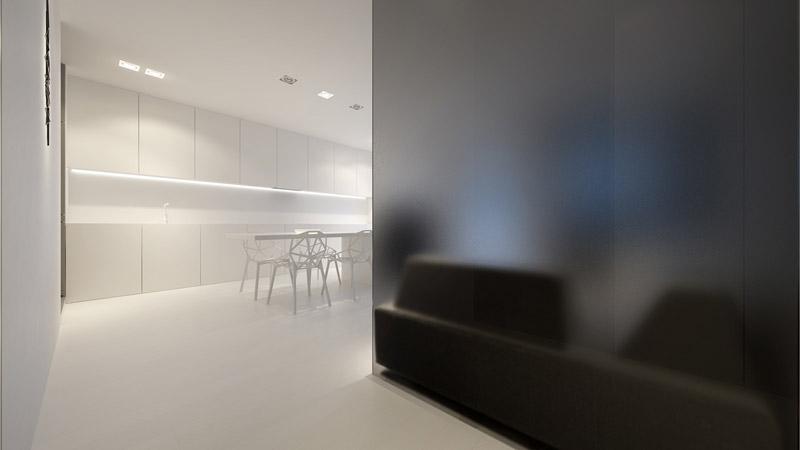 Wnętrza mieszkania na Mokotowie. Pracownia: Oporski Architektura