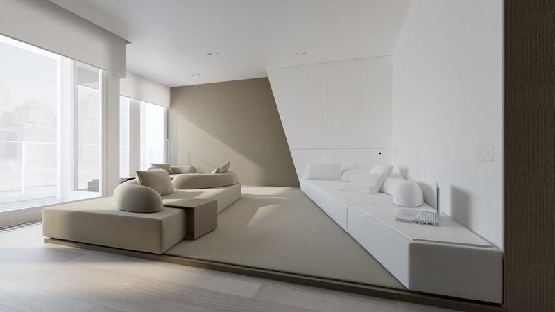 Koncepcja mieszkania w Warszawie. Pracownia: Oporski Architektura