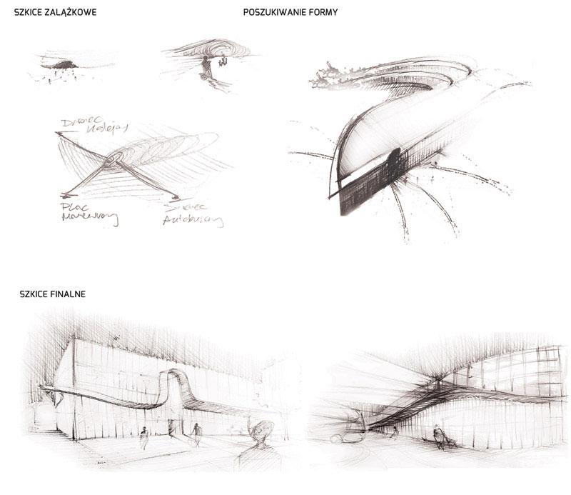 Dyplomy Architektury: Zintegrowane Centrum Komunikacyjne w Lublinie. Projekt: Rafał Stabryła