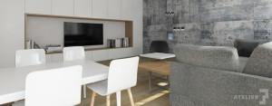 Projekt wnętrz mieszkania w Krakowie studia T3 Atelier