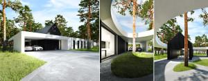 Dwa domy w lesie – najnowszy projekt pracowni Tamizo Architects Mateusz Stolarski!