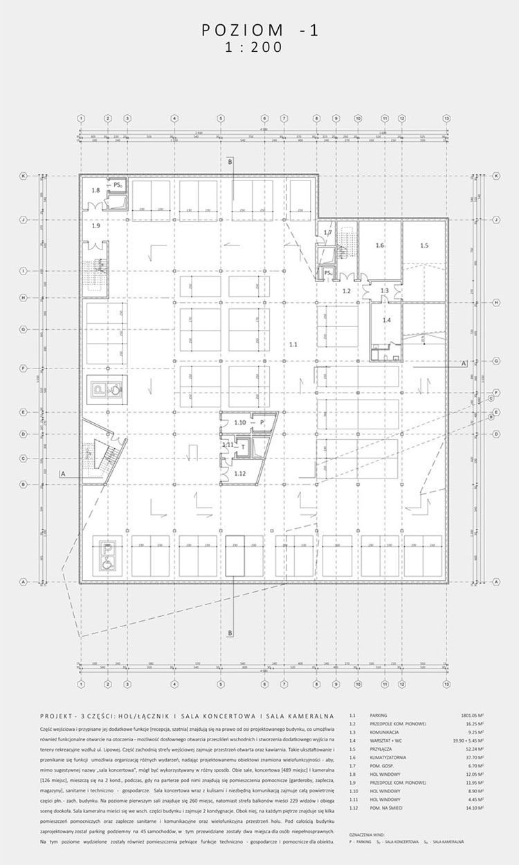Dyplomy Architektury: Sala Koncertowa w Pabianicach. Projekt: Anna Mastalerz